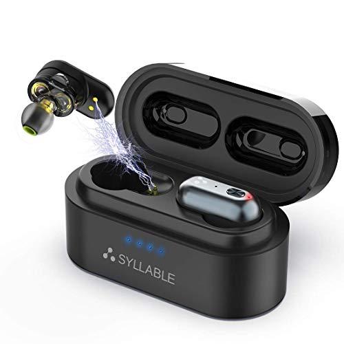 Auriculares Bluetooth Syllable S101, Auriculares Inalámbricos Bluetooth 5.0 Estéreo Cascos Mini Twins Ponentes Carga...