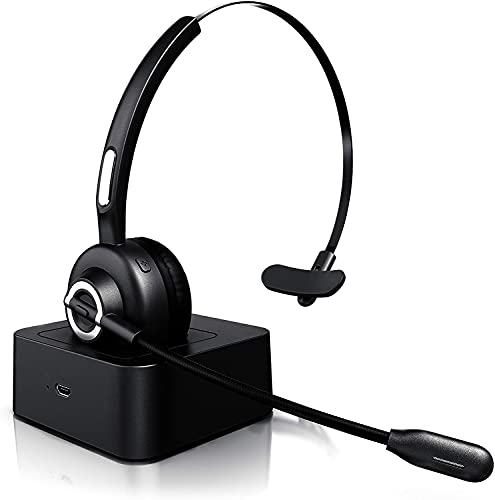 Auriculares inalámbricos Bluetooth con Micrófono-Mono Tipo Diadema-Auricular Inalambrico para Telefono Fijo con Base...