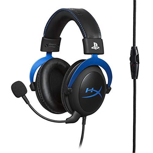 HyperX HX-HSCLS-BL Cloud para PS4 - Cascos de Gaming con Control de Audio Integrado