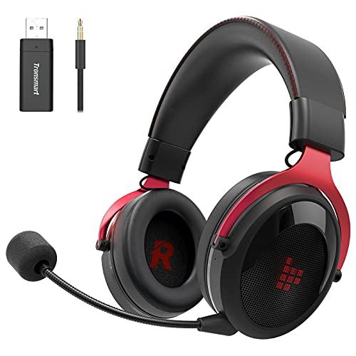 Tronsmart Shadow Auriculares Gaming inalambricos-2.4G, Surround 7.1/Audio de 50MM, Estéreo Cascos Gaming Inalámbricos...