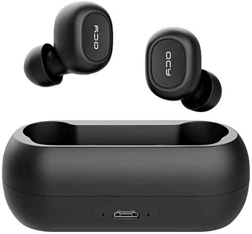 QCY-T1 TWS - Auriculares Deportivos con Bluetooth 5.0, inalámbricos, más de 20 Horas de duración de la batería con...