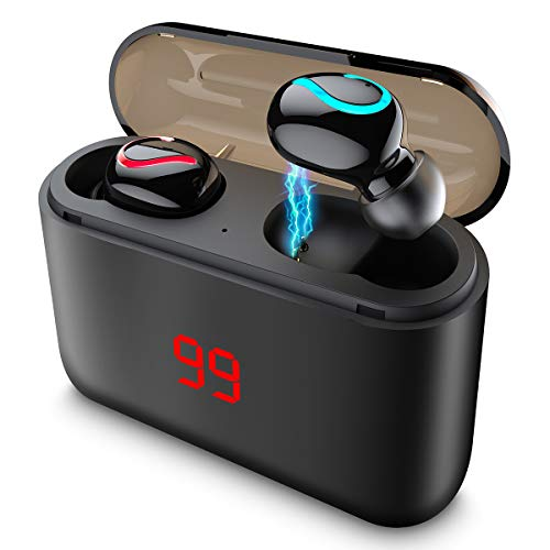 Auriculares Bluetooth 5.0 con LCD y 1500mAh Estuche de Carga,Reducción de Ruido,Wireless Earbuds 48 Horas de...