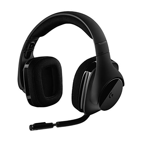 Logitech G533 Auriculares Gaming Inalámbricos, 7.1 Surround DTS Headphone:X, Transductores 40mm Pro-G, Micrófono, 2, 4...