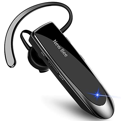 New Bee Manos Libres Auricular Bluetooth Auricular inalámbrico Bluetooth Mano Libre con tecnología de Captura de Voz...