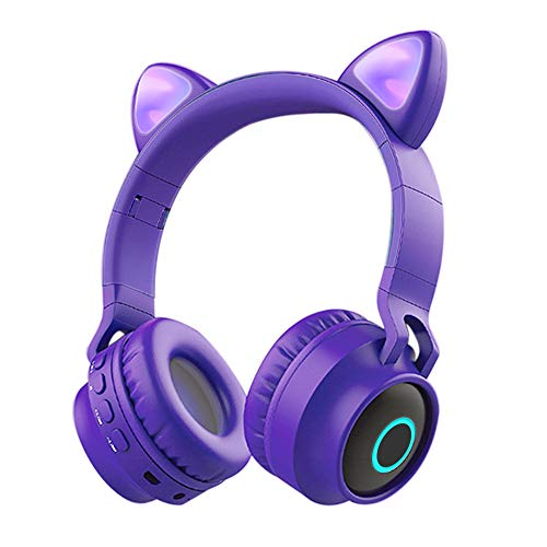 Auriculares Bluetooth para Niños con Micrófono,Funwaretech Auriculares Inalámbricos con Orejas de Gato,Estéreo de...