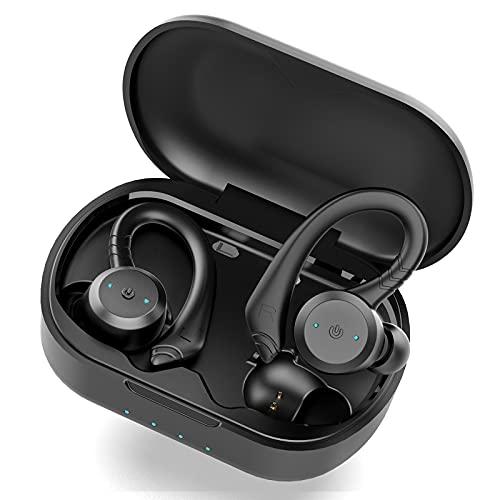 Auriculares Inalambricos Bluetooth 5.1, Retirable Gancho para la Auriculares Bluetooth Deportivos Cascos Inalambricos y...