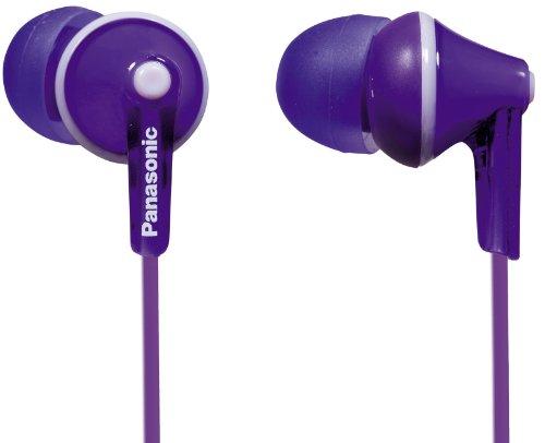 Panasonic RP-HJE125E-V Auriculares Boton con Cable In-Ear (Headphone Sonido Estéreo para Móvil, MP3/MP4, Diseño de...