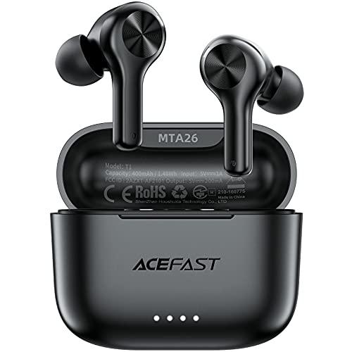 ACEFAST Auriculares Inalámbricos Bluetooth 5.0 ENC Cancelación de Ruido, Auriculares Deportivos Internos In-Ear 4...