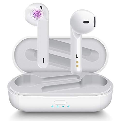 Auriculares Inalámbricos Aoslen Auriculares Bluetooth 5.1 con Micrófono HiFi IPX6 Impermeabile Control Táctil para...