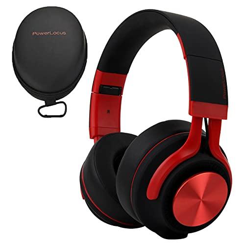 PowerLocus Auriculares Bluetooth Diadema P3,[Bluetooth 5.0,40h de música] Cascos Bluetooth Inalámbrico Plegable Casco...