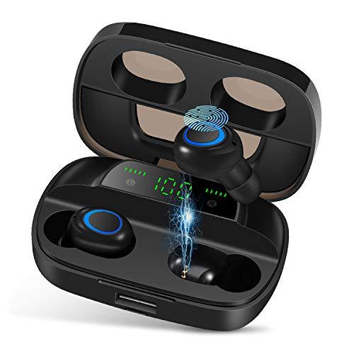 Orangeck Auriculares Inalámbricos Bluetooth 5.0 Auricular Inalámbrico IPX7 Impermeable 120H Playtime Sport Eurbuds 3D...