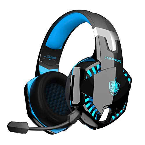 Auriculares Gaming PS4, PHOINIKAS Wired Gaming Auriculares für PS5, Xbox One, PC, Auriculares inalámbricos con Sonido...