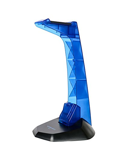 Mengshen Soporte para Auriculares para Juegos con Organizador de Cable - Azul