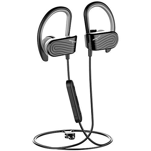Zealot H12 - Auriculares deportivos con Bluetooth 5.0, Hi-Fi, estéreo, con bolsa de almacenamiento, micrófono con...