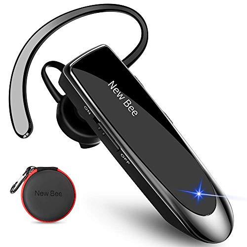 New Bee Auriculares Manos Libres, Auricular Bluetooth Inalámbrico Negocio con Micrófono Auricular para iPhone,...
