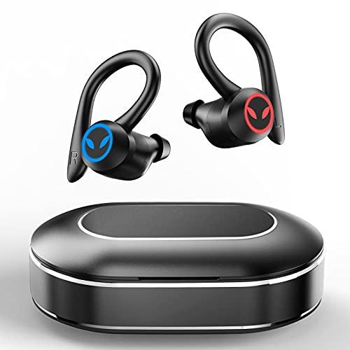 Auriculares Inalambricos Deporte, Auriculares Bluetooth 5.1 Deportivos IPX7 Impermeable CVC8.0 Cancelación de Ruido...