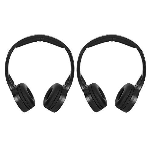 Auriculares infrarrojos, 2 canales inalámbricos infrarrojos IR estéreo audio auriculares auriculares para coche...