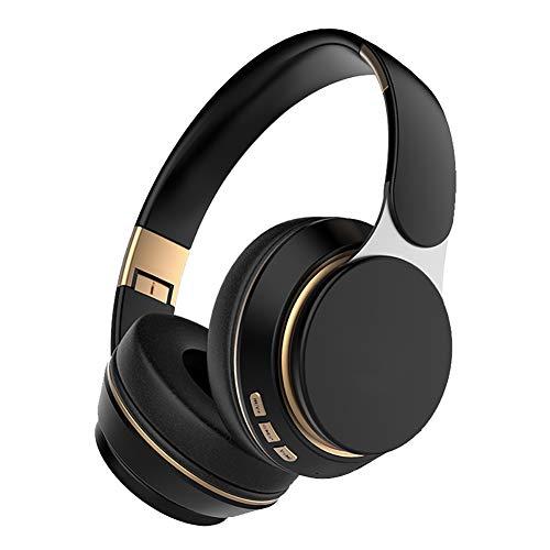 SHENXI Auriculares inalámbricos Over Ear con Micro TF/FM,Auriculares Bluetooth,Cancelación Activa de Ruido, Plegable...