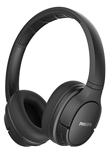 Philips SH402BK/00 Auriculares Supraaurales Bluetooth, Deportivos (Altavoces 40 mm, Almohadillas...