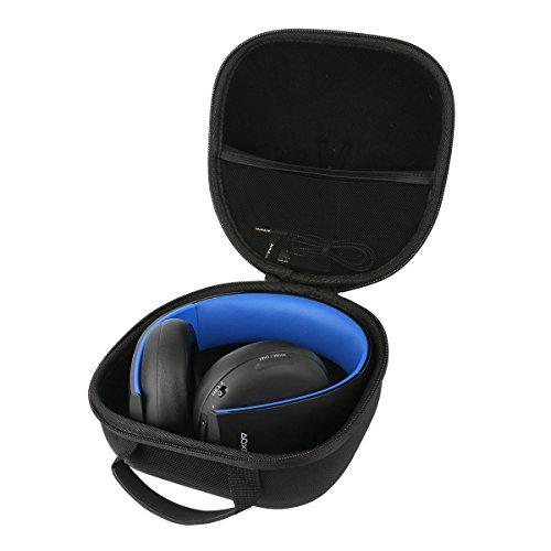 Teckone EVA Funda Estuche Bolso Para Sony Auriculares Inalámbricos Platinum PS4.Meshpocket para cables.