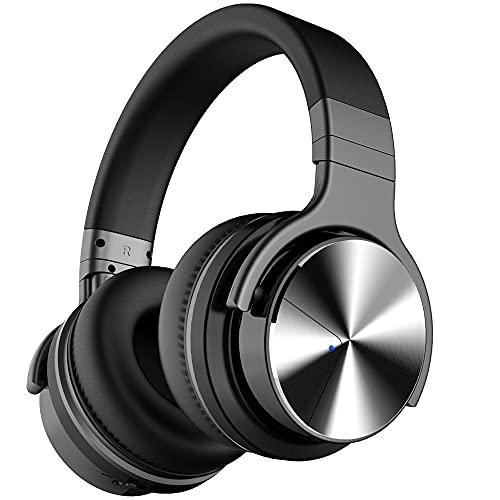 Tapela E7 Pro Auriculares con cancelación Activa de Ruido Bluetooth con micrófono/Auriculares inalámbricos de Graves...