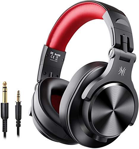 OneOdio FUSION A7 Auriculares Inalámbricos Bluetooth Auriculares de Estudio, Cascos Diadema Cerrado 90°Ajustable, con...