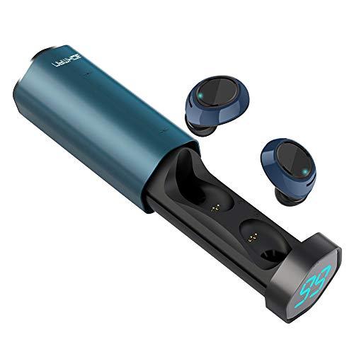 bokman Auriculares Bluetooth, T2 Auriculares Inalámbricos Deportivos Bluetooth 5.0 Micrófono Incorporado Impermeable...