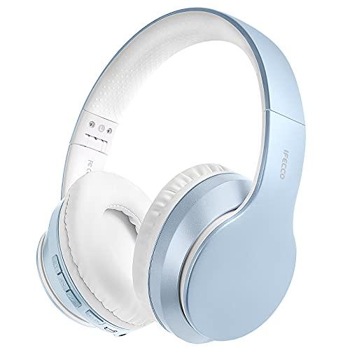 Cascos Inalambricos Bluetooth, Auriculares Diadema Estéreo Inalámbricos Plegables, Micrófono Incorporado, Cascos...