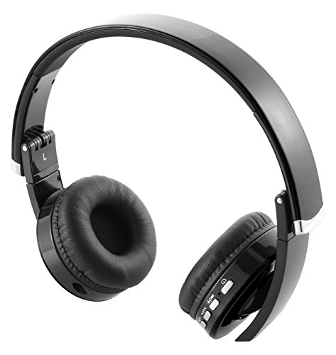 mindkoo inalámbrico Bluetooth 4.0Inteligente Auriculares con micrófono Integrado y Altavoz (Negro)