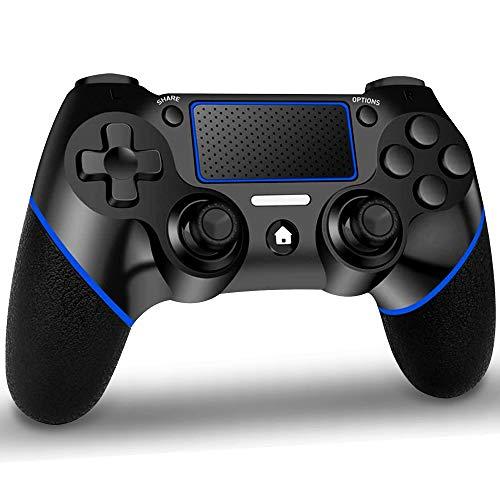 GEEMEE Mando Inalambrico para PS4, Gamepad Wireless Bluetooth Controlador Joystick con Vibración Doble/Puerto de Audio...