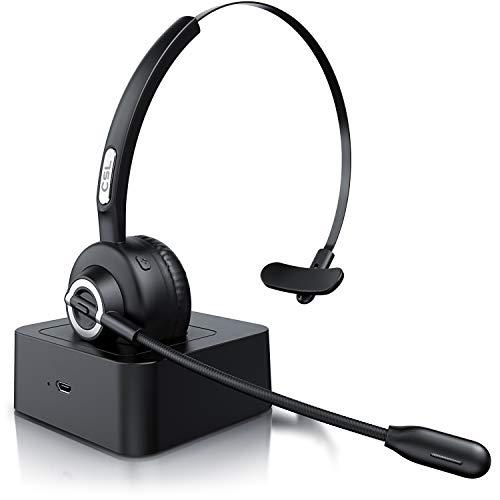CSL - Auriculares inalámbricos Bluetooth con micrófono - Mono Tipo Diadema - Manos Libres - Puerto de Carga USB -...