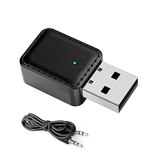 JeoPoom Adaptador Bluetooth 5.0, Bluetooth 5.0 USB Dongle Stick, 2 En 1 Receptor Bluetooth Y Transmisor Bluetooth, para...