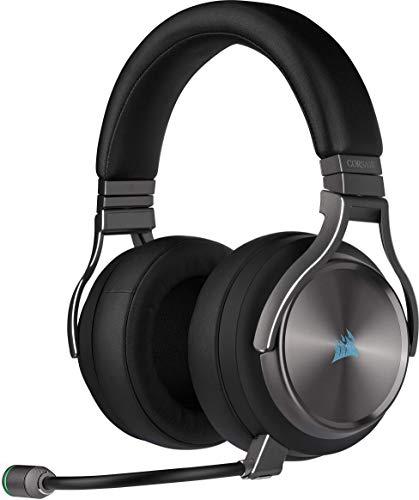 Corsair VIRTUOSO RGB WIRELESS SE, Auriculares para Juegos de Alta Fidelidad, Envolvente e Inmersivo 7.1, Micrófono...