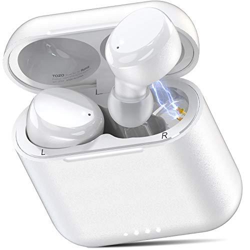 TOZO T6 Auriculares Bluetooth 5.0 Auriculares Inalámbricos Control Táctil con Estuche de Carga y micrófono Integrado,...