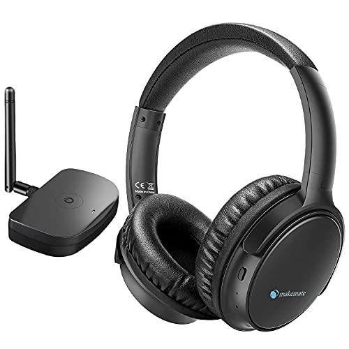 Auriculares Inalámbricos TV con Transmisor Óptico Bluetooth, makemate BKM200 Auriculares Inalámbricos para TV, Fácil...