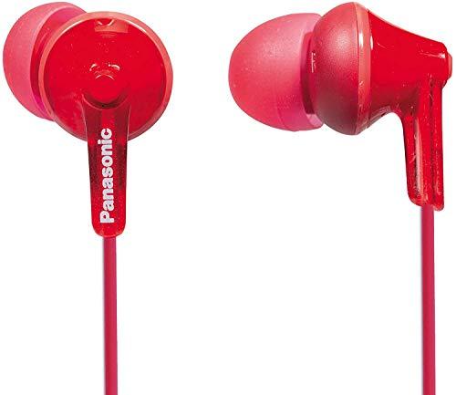 Panasonic RP-HJE125E-R Auriculares Boton con Cable In-Ear (Headphone Sonido Estéreo para Móvil, MP3/MP4, Diseño de...