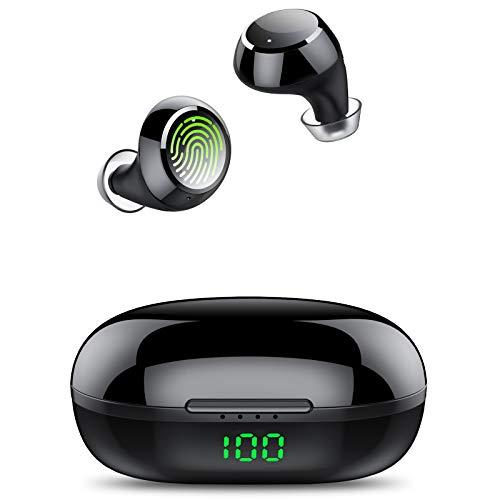 Tiksounds Auriculares Bluetooth, Auriculares Inalambricos con Micrófono, 36 Horas Reproducción con Estuche de Carga,...