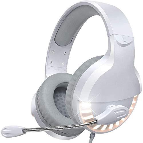 VersionTECH.Auriculares con Micrófono PS5, Reducción de Ruido, Sonido Envolvente, con Cable para PS4,PC,Xbox...
