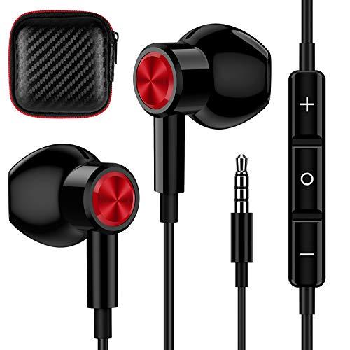 TITACUTE Auriculares in-ear de 3,5 mm, con cable, magnéticos, cancelación de ruido, con micrófono y control de...