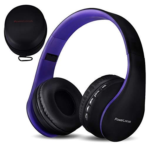 PowerLocus P1 – Auriculares Bluetooth inalambricos de Diadema Cascos Plegables, Casco Bluetooth con Sonido Estéreo...