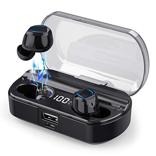 iPosible Auriculares Inalámbricos Bluetooth [2019 Más Nuevo Modelo - 3500mAh] Sonido Estéreo Mini Twins In-Ear...