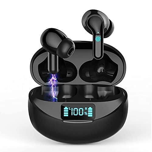 Auriculares Inalámbricos Auriculares Bluetooth 5.0 Deportivos con Cancelación de Ruido Estéreo on Micrófono In-Ear...