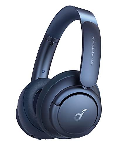 Soundcore de Anker Life Q35 Auriculares Inalámbricos Bluetooth Diadema, Cascos Inhalabricos con Cancelación de Ruido...