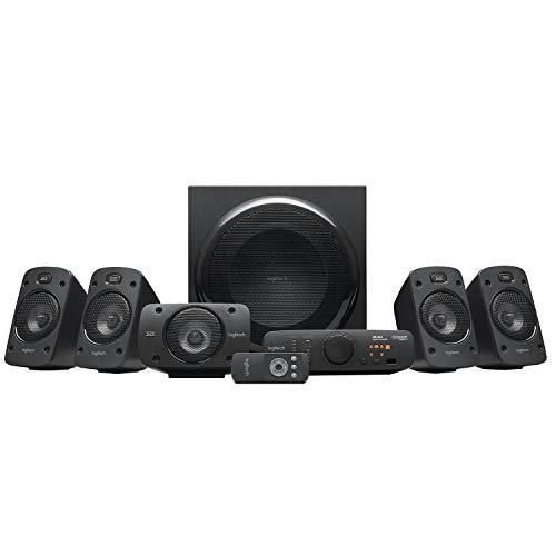 Logitech Z906 5.1 Sistema de Altavoces Sonido Envolvente THX, Certificado Dolby&DTS, 1000 W de Pico, Multi-Dispositivos,...