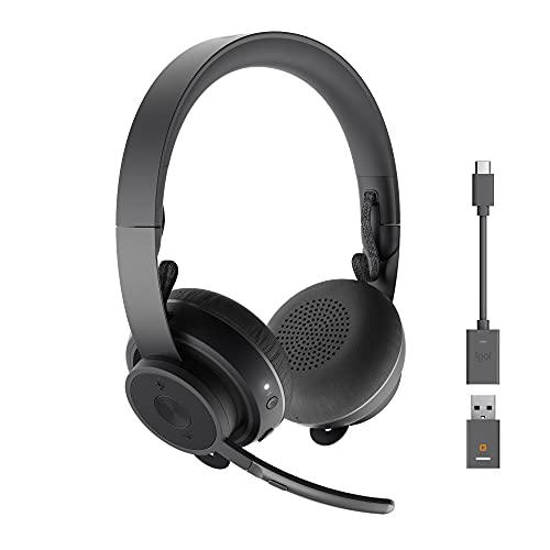 Logitech Zone 900 Auriculares inalámbricos Bluetooth, Microfono con Cancelación de Ruido, hasta 6 dispositivos...