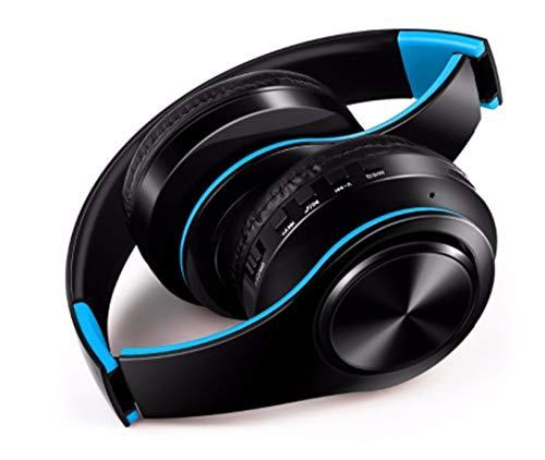 Auriculares inalámbricos Plegables para ZTE Axon 10 Pro Smartphone Bluetooth Botones Ajustable Sonido Universal (Azul)