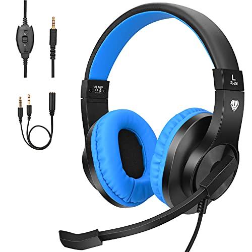 BlueFire Cascos Gaming PS4 con Microfono,Auriculares de Diadema con Sonido Envolvente y Cancelacion Ruido Headset para...
