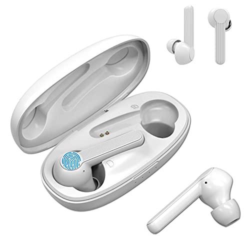 2021 Nuevos Auriculares Bluetooth,Cascos inalámbricos,Cancelación de Ruido Mejorado,Control Táctil,24 H Trabajo por...