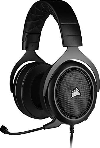 Corsair HS50 Pro Stereo Auriculares para Juegos (Ajustables Espuma viscoelástica Almohadillas, Ancelación del Ruido...