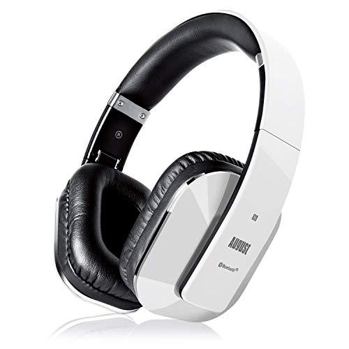Cascos Inalámbrico con aptX Baja Latencia, Auriculares Bluetooth de Diadema Plegable August EP650 con Micrófono, NFC...